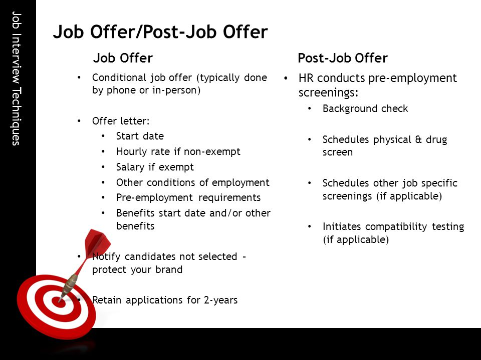 14 job offerpost job offer - Waiting For The Job Offer What Are My Salary Expectations