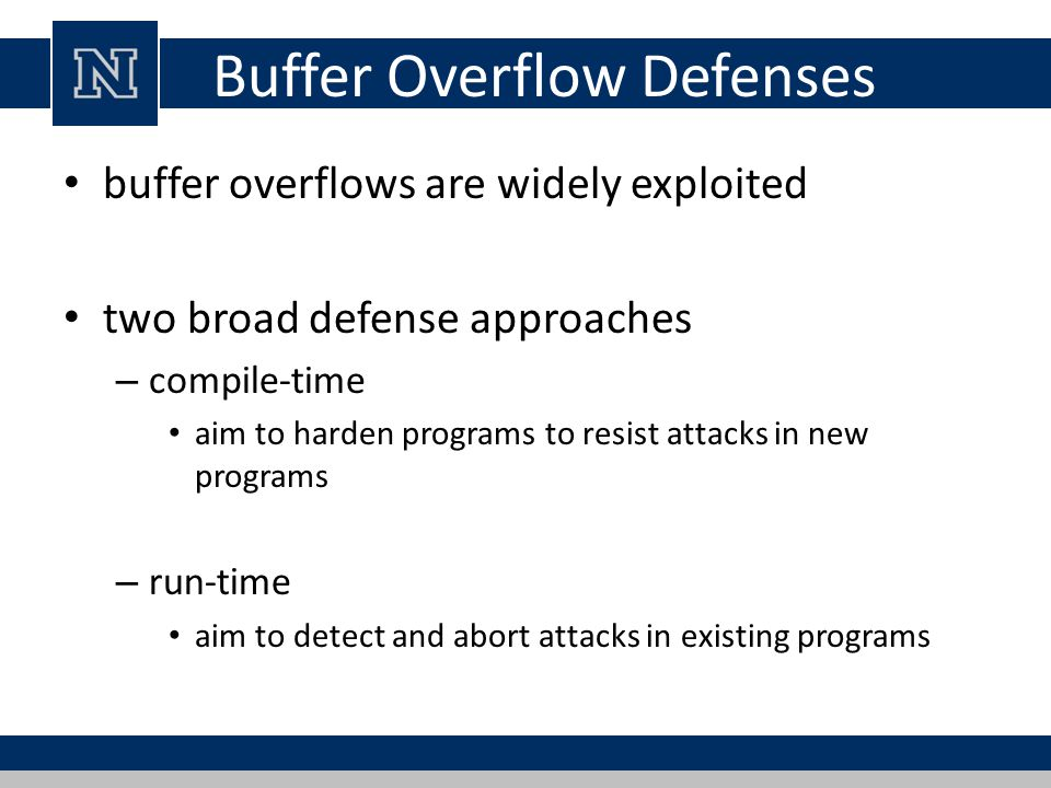 Buffer Overflow Defenses