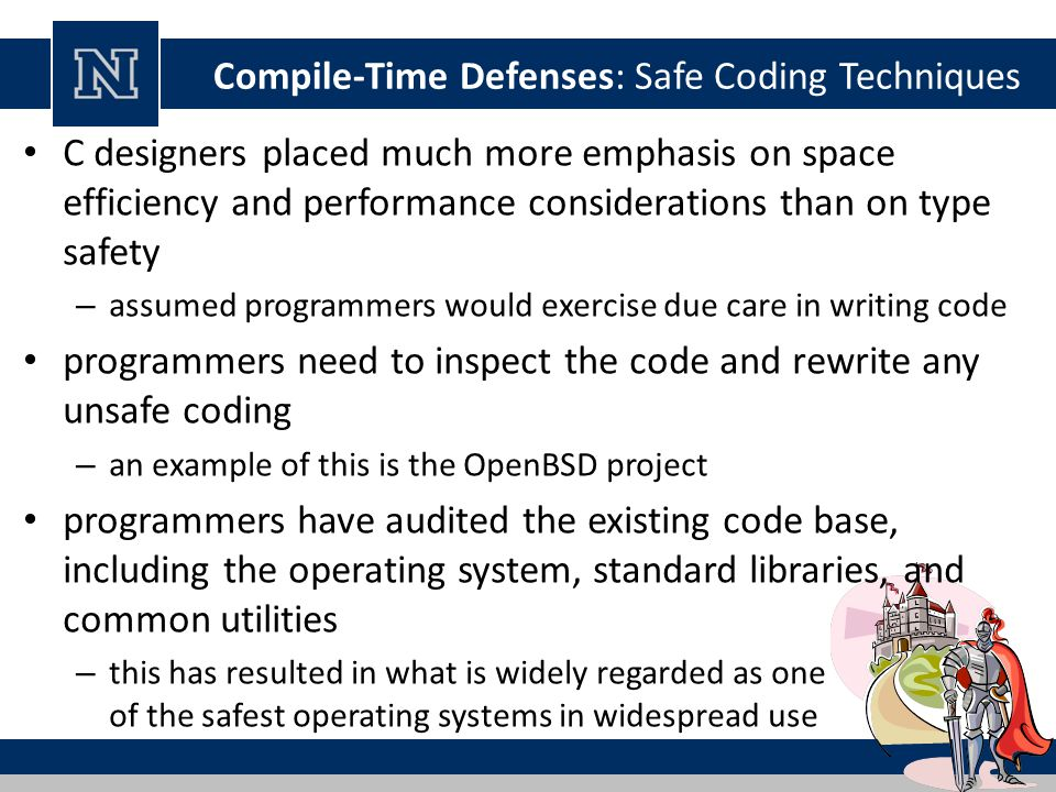 Compile-Time Defenses: Safe Coding Techniques