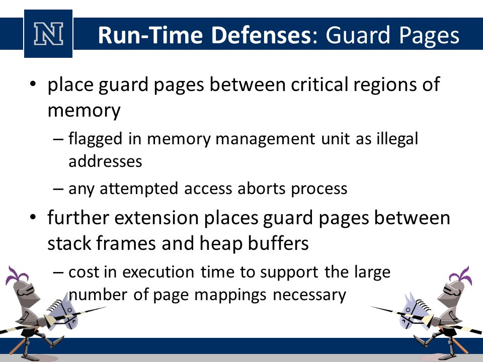 Run-Time Defenses: Guard Pages