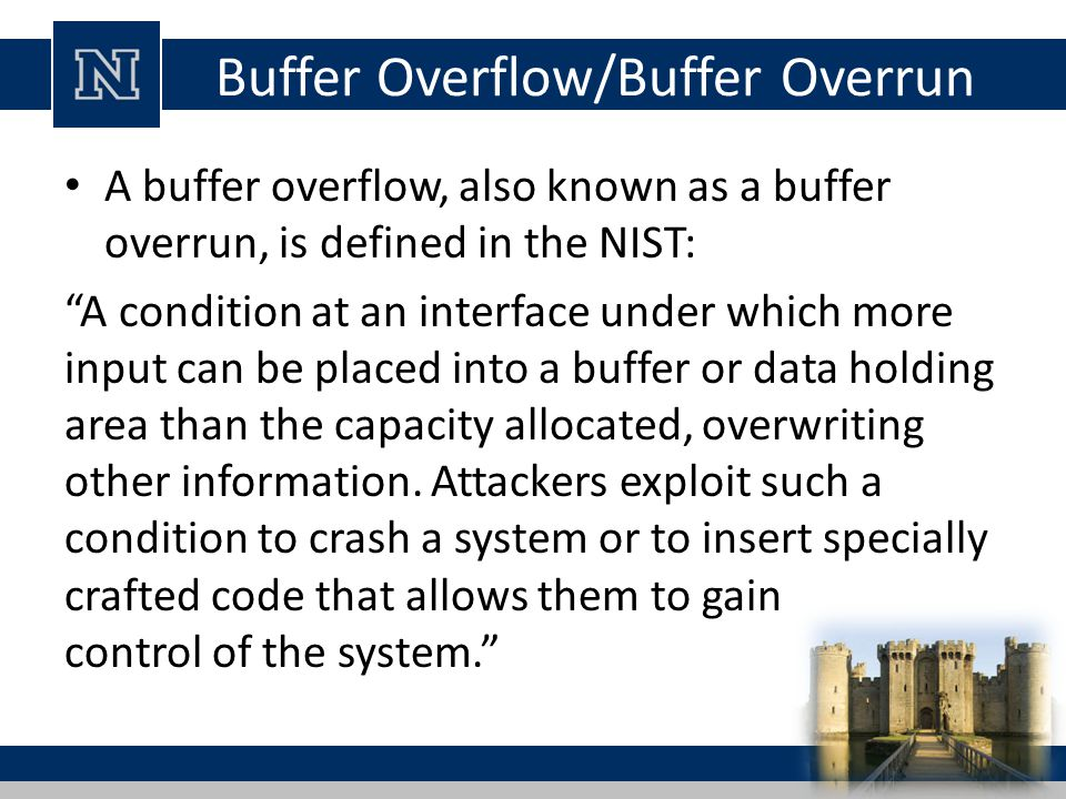 Buffer Overflow/Buffer Overrun