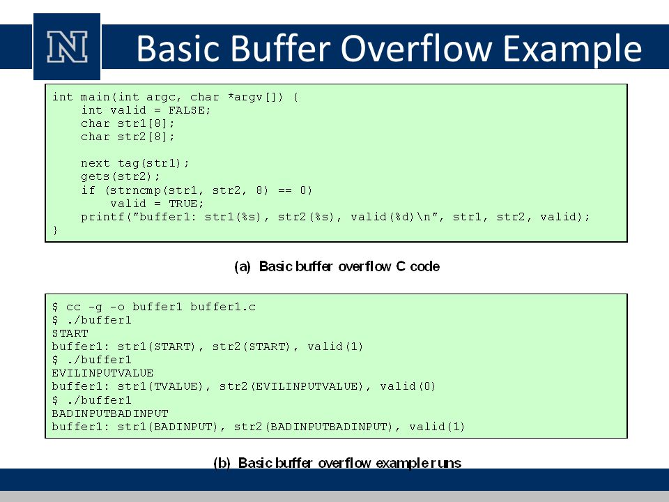 Basic Buffer Overflow Example