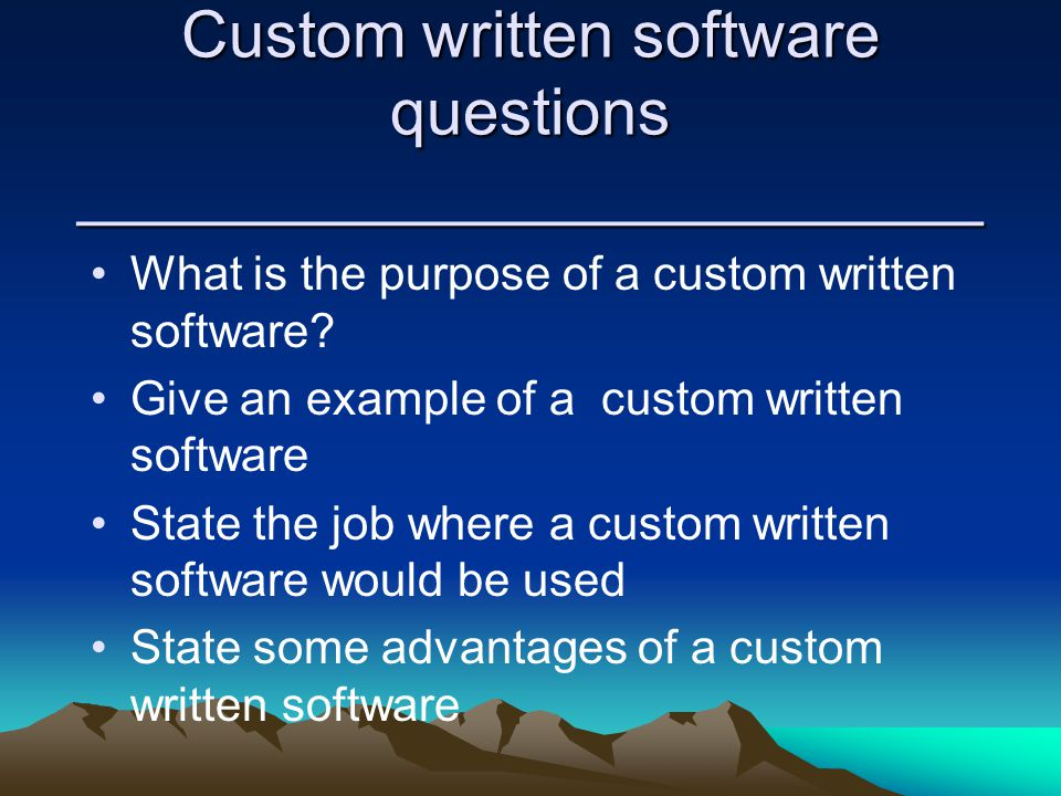 advantage of custom written software There is a difference between integrated software and software suites or bundles integrated software is a single program that contains modules for many popular business applications such as word processing the advantages of bundled software suites are.