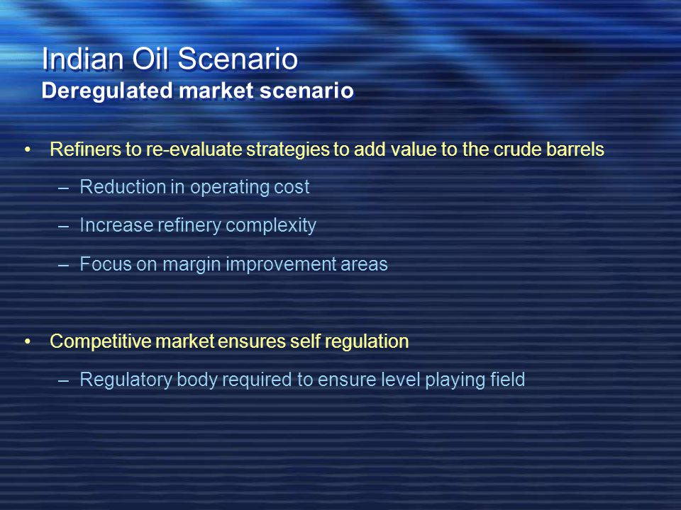 crude oil market structure changing scenario essay