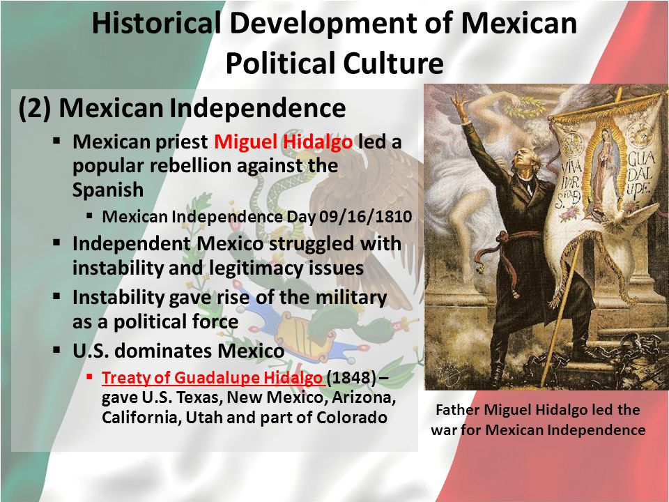 "political culture of mexico Free essay: mexican political culture as once put by mexican nobel laureate  octavio paz, mexico is a land of ""super-imposed pasts""."