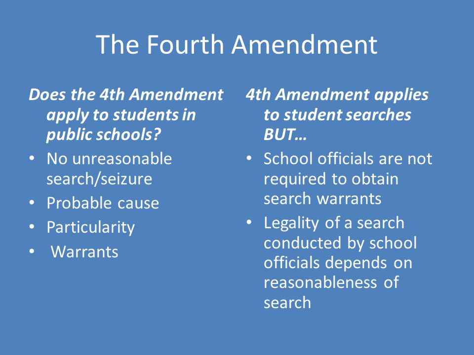 the fourth amendment search and seizure See 1–6 wayne r lafave, search and seizure: a treatise on the fourth amendment (4th ed 2004) [4] the supreme court created the exclusionary rule in weeks v.