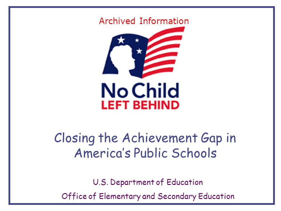 closing the achievement gap education essay Closing the achievement gap in higher education 101 of an organizational entity (huber, 1991) and (3) organizational culture and structures can promote or inhibit individual learning (argyris and.