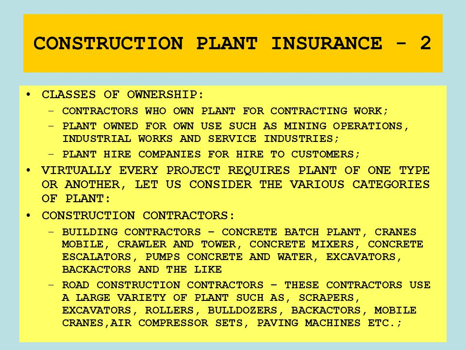 Today is participation day ppt download Construction types insurance