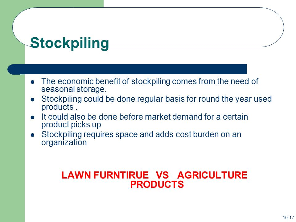 LAWN FURNTIRUE VS AGRICULTURE PRODUCTS
