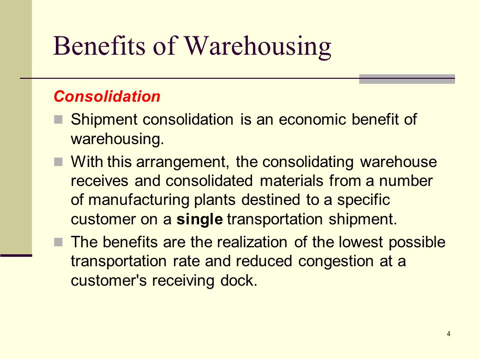Benefits of Warehousing