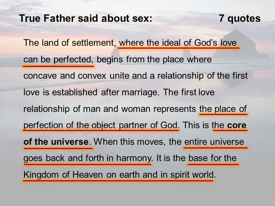 What god says about sex