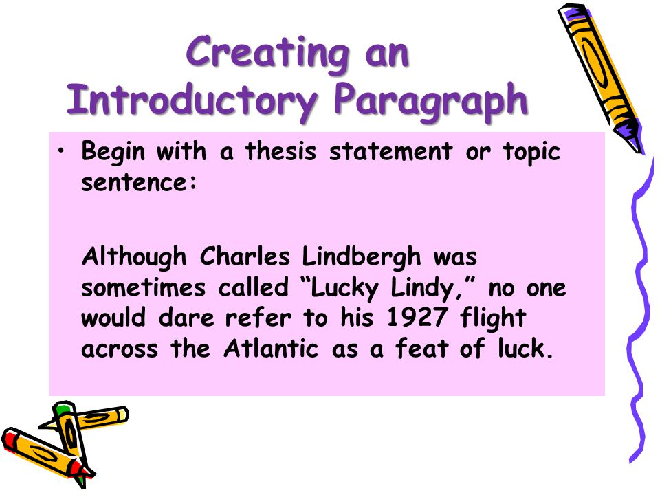essay topic sentence examples