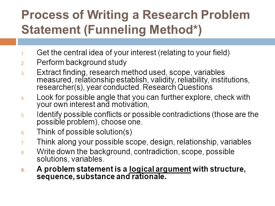 writing problem statement for research in science & technology, Modern powerpoint