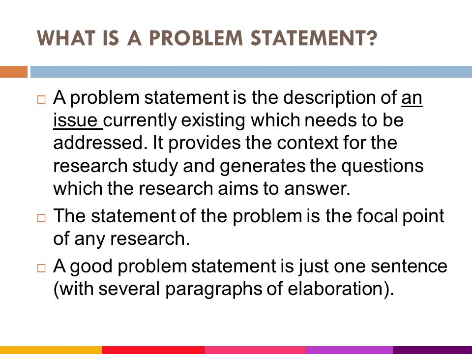 Writing A Statement Of The Problem For Your Research Examples