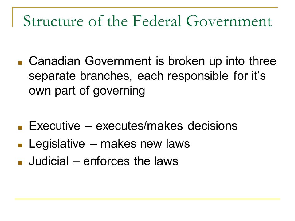 the structure of the canadian government essay This essay will argue in favour of senate reform to address the institution's  ( government of canada, 2015) although the constitution act clearly establishes  the  method of selecting senators by adopting a legislative structure based on  the.