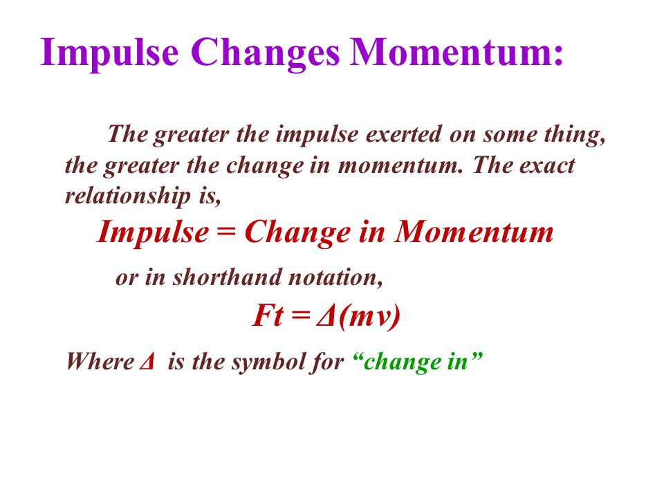 Chapter 4 Impulse And Momentum Ppt Download