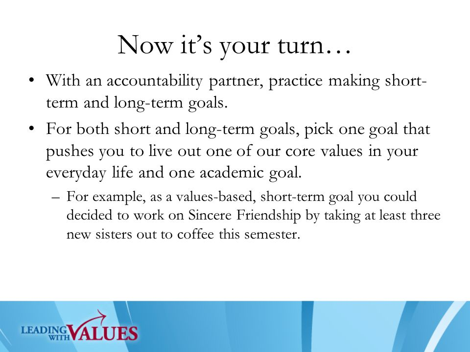Long And Short Term : Setting s m a r t goals ppt video online download