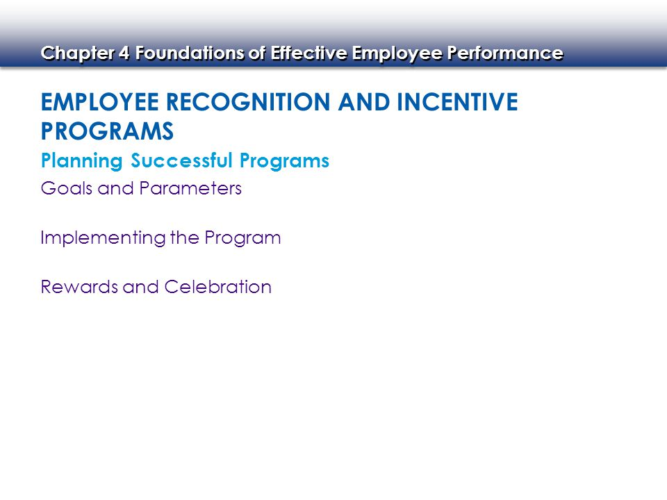 Employee Recognition and Incentive Programs