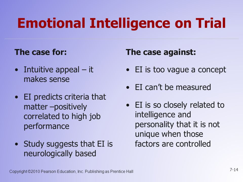 Emotional Intelligence on Trial