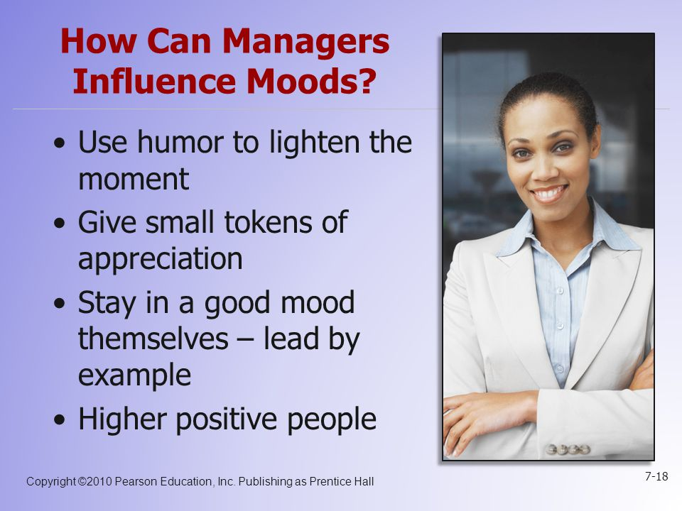 How Can Managers Influence Moods