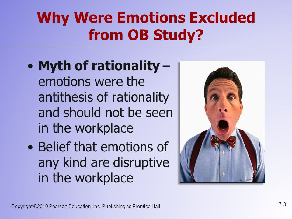 Why Were Emotions Excluded from OB Study
