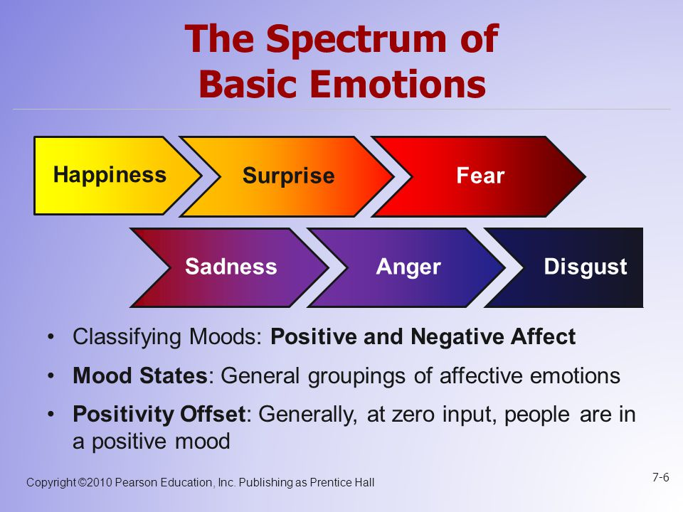 The Spectrum of Basic Emotions