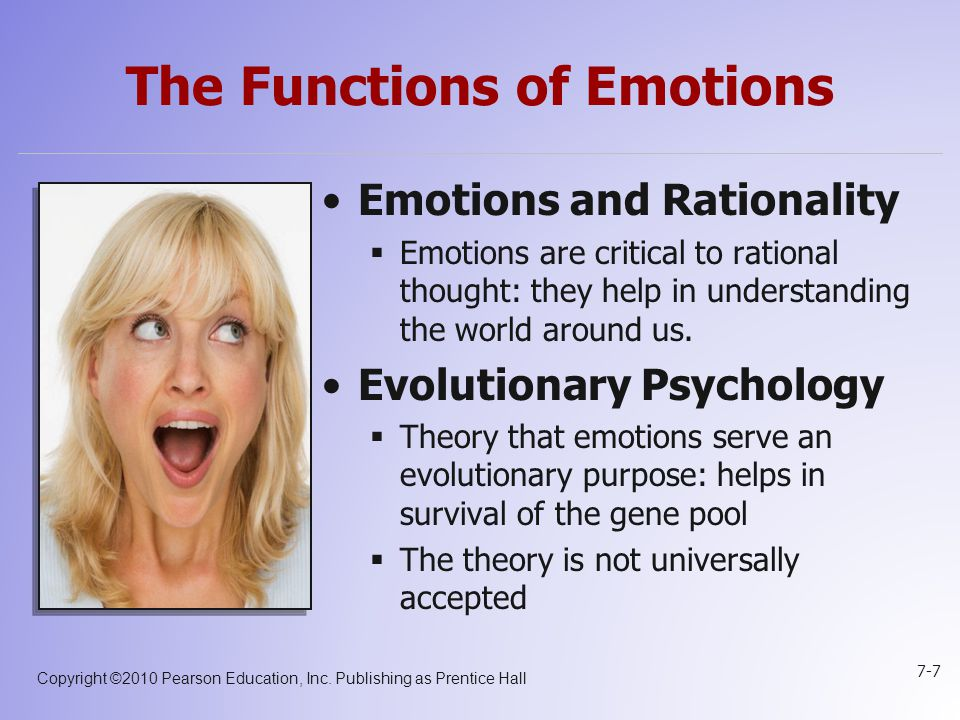 The Functions of Emotions
