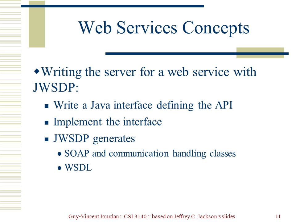 Web writing services endpoint java
