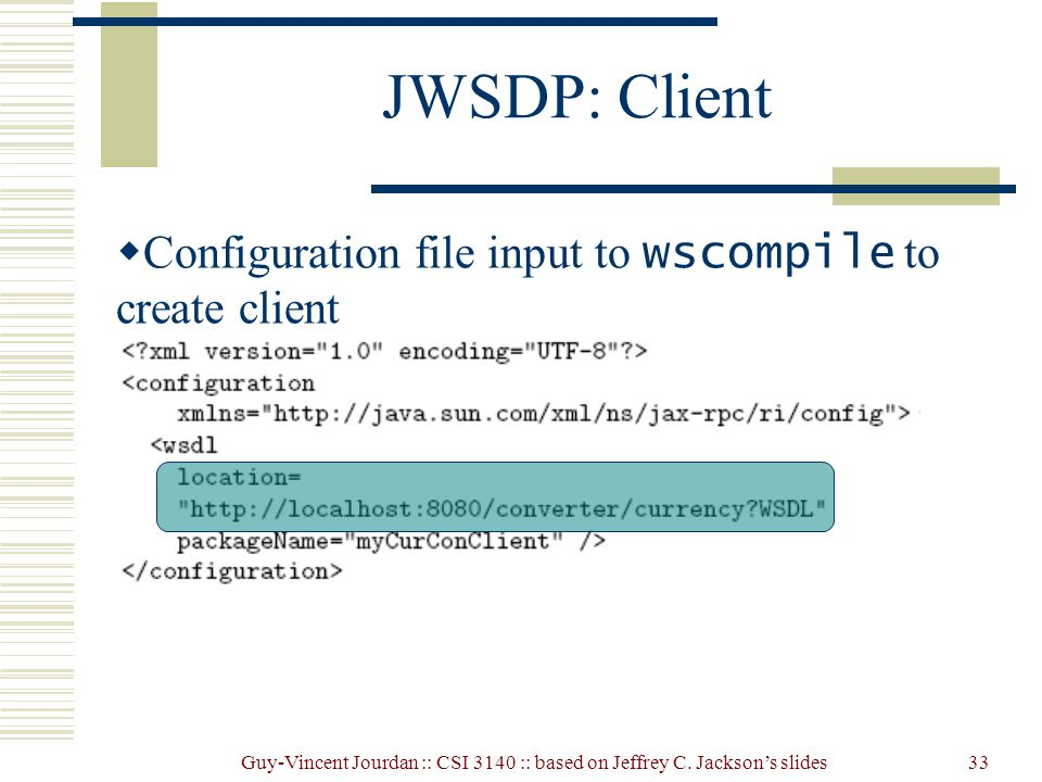 how to create a java configuration file