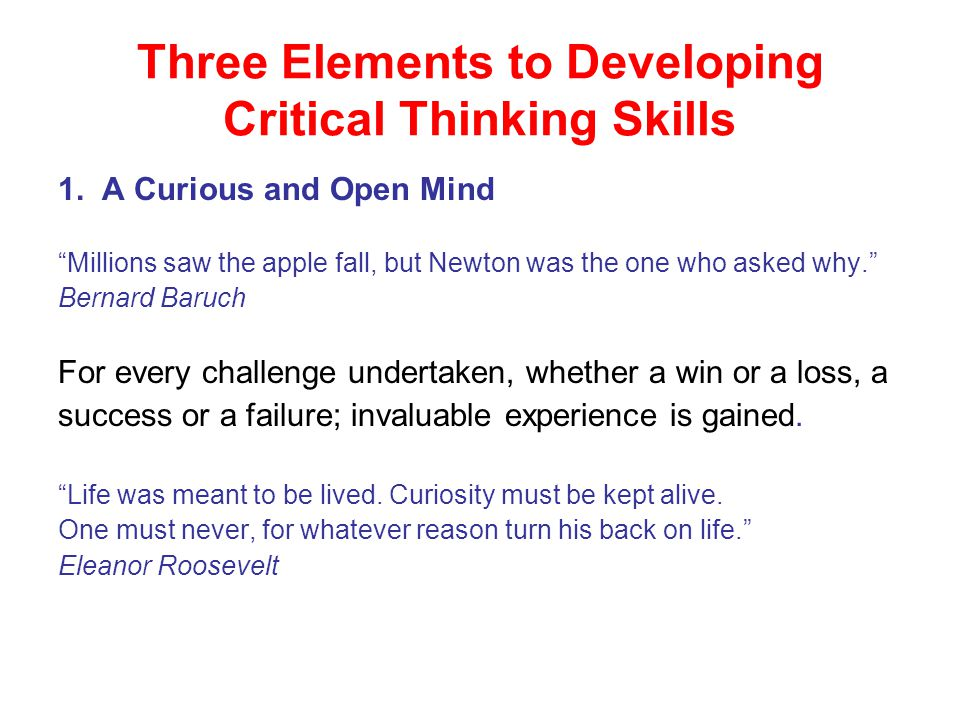 what is meant by critical thinking skills