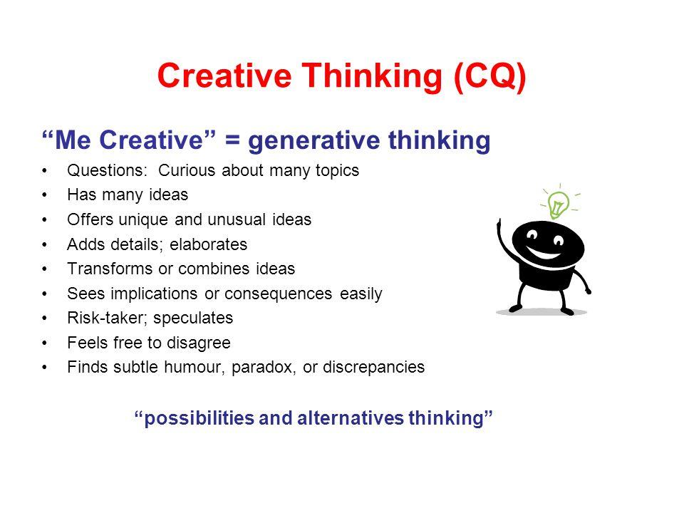 Creative thinking essay