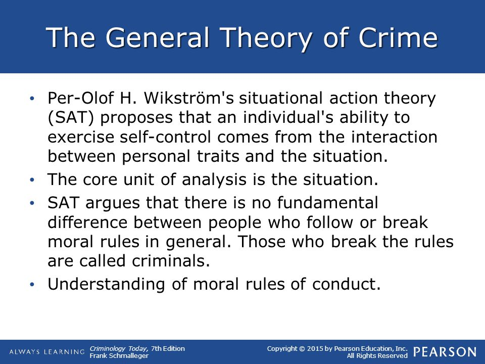 a general theory of crime Numerous studies have attempted to test gottfredson and hirschi's general  theory of crime the present article outlines the view that virtually every  empirical.