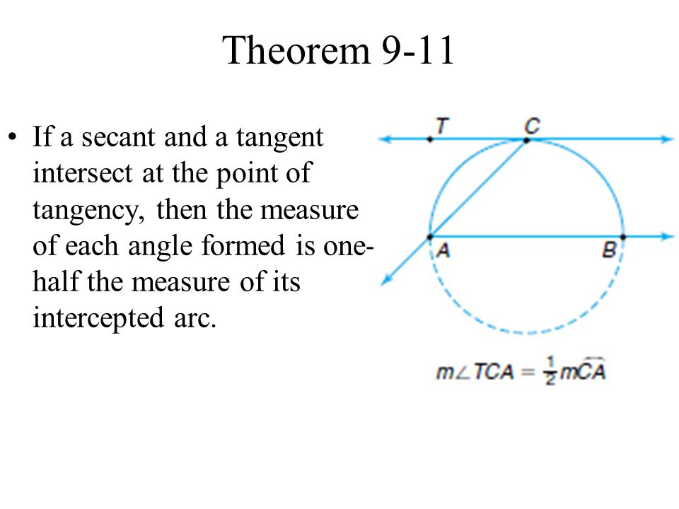 Measure Of An Angle : Secants tangents and angle measures ppt video online