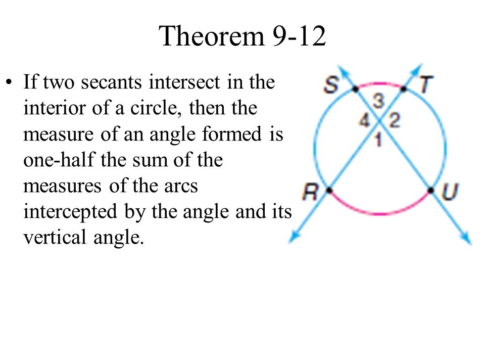 Secants Tangents And Angle Measures Ppt Video Online