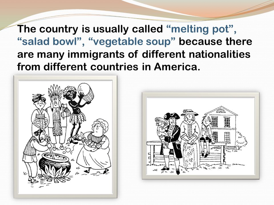 is america a nation or a salad bowl The salad bowl concept suggests that the integration of the saying that america needs to have a common culture lind, michael the next american nation.