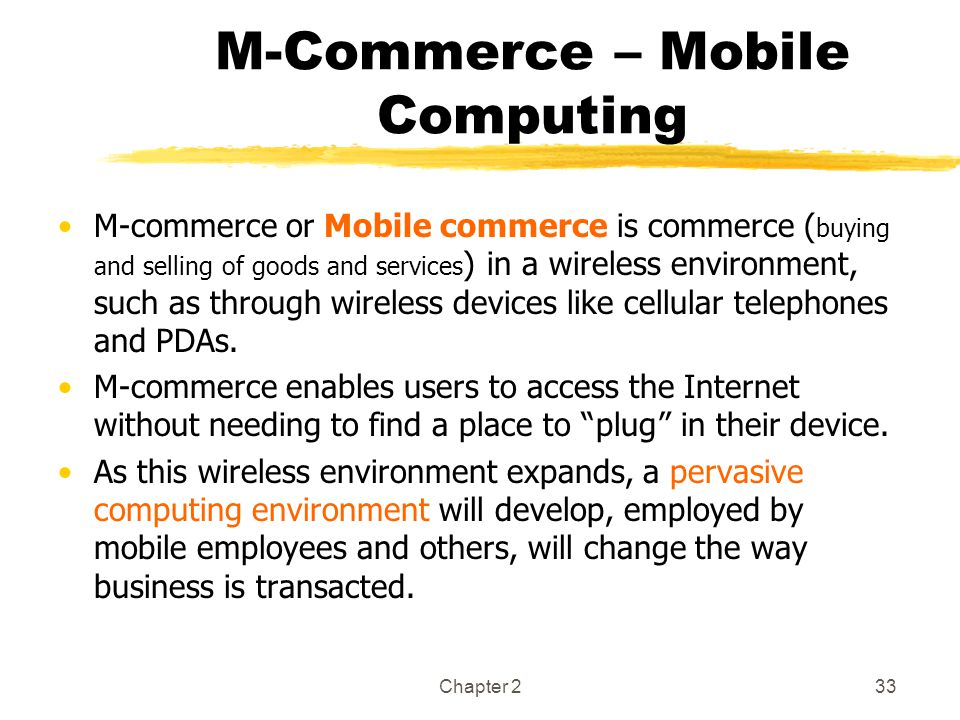 M-Commerce – Mobile Computing