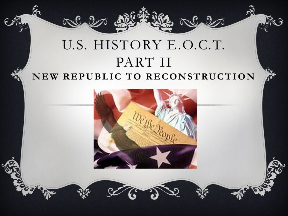 u s history 1 reconstruction 23052015  who were major players photos reconstruction complications effects on north & south like comment share north: the northern economy boomed during the war.