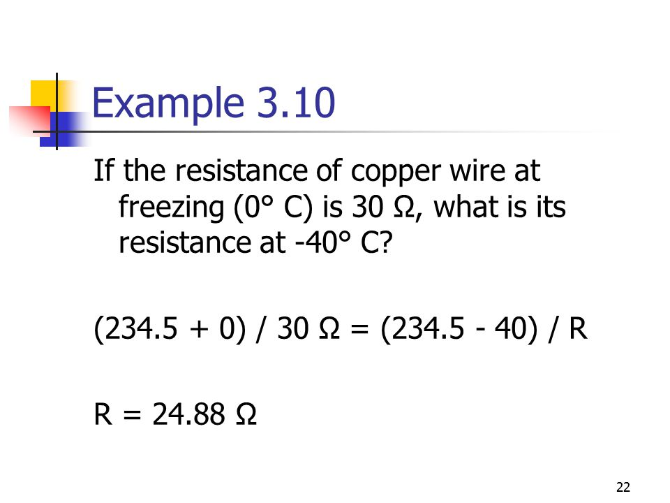 Chapter 3 resistance ecet 1010 fundamentals ppt download example 310 if the resistance of copper wire at freezing 0 c is greentooth Image collections