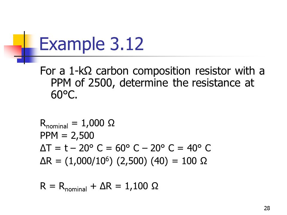 Example+3.12+For+a+1 k%CE%A9+carbon+composition+resistor+with+a+PPM+of+2500%2C+determine+the+resistance+at+60%C2%B0C. 107 250040 wiring diagram diagram wiring diagrams for diy car LED Light Schematic at edmiracle.co