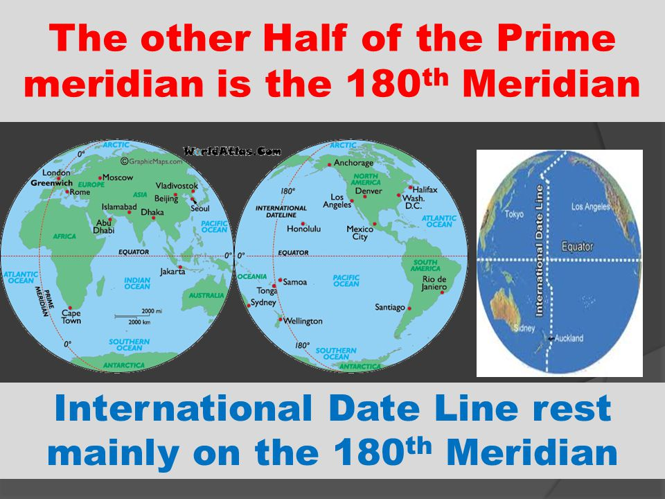 The other Half of the Prime meridian is the 180th Meridian