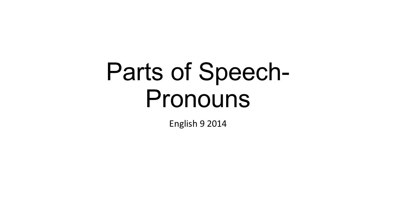 9 parts of the speech pdf