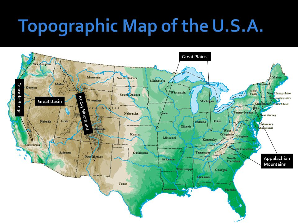 The United States Of America Ppt Video Online Download - Appalachian and rockies on us map