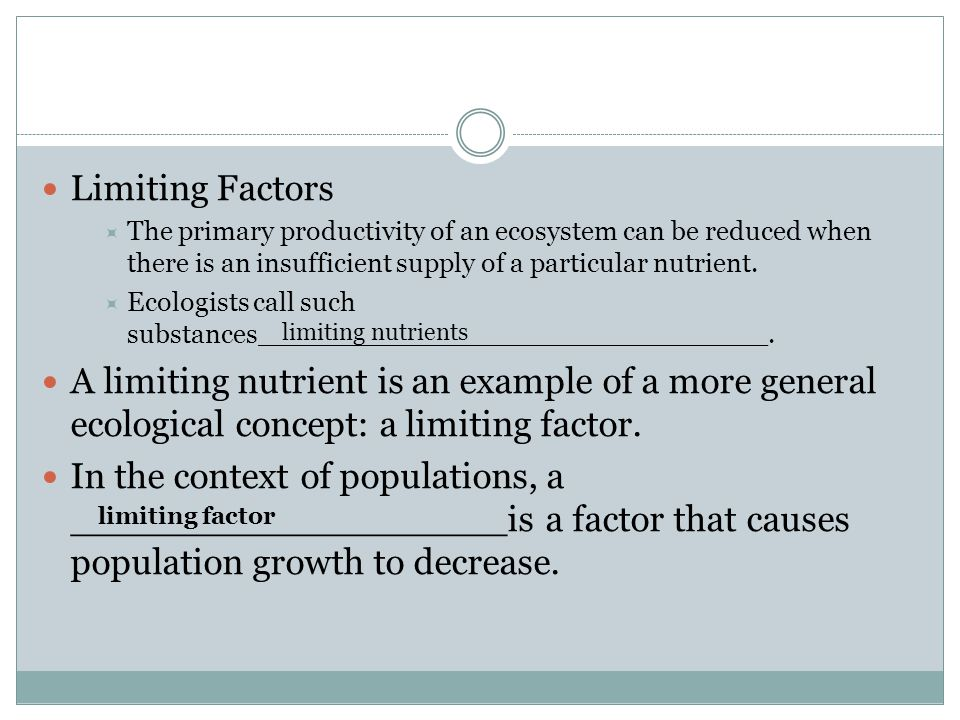 Limiting Factors Examples Ecosystems 6850 Enews