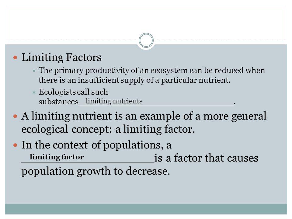 Limiting Factors Examples Ecosystems 6850 Enews