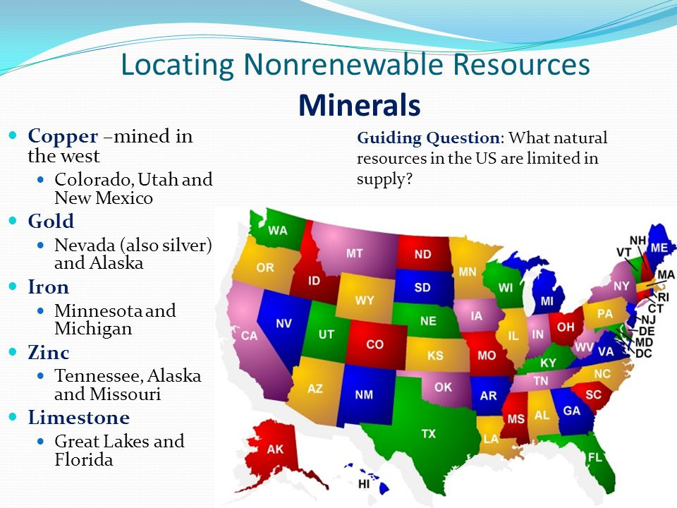 Michigan Natural Resources List