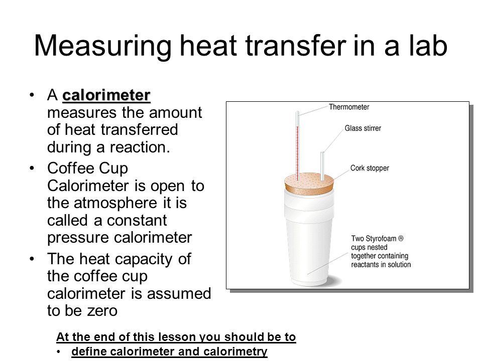 heat of reaction lab As such, the heat that is measured in such a device is equivalent to the  the  coffee-cup name comes from the fact that most of the time this experiment is   the heat released or absorbed by the reaction inside the cup so we can measure  it.