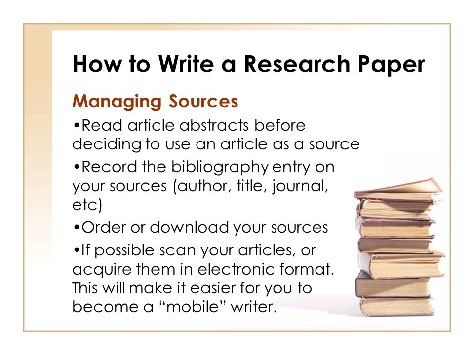 how to write a research analysis paper