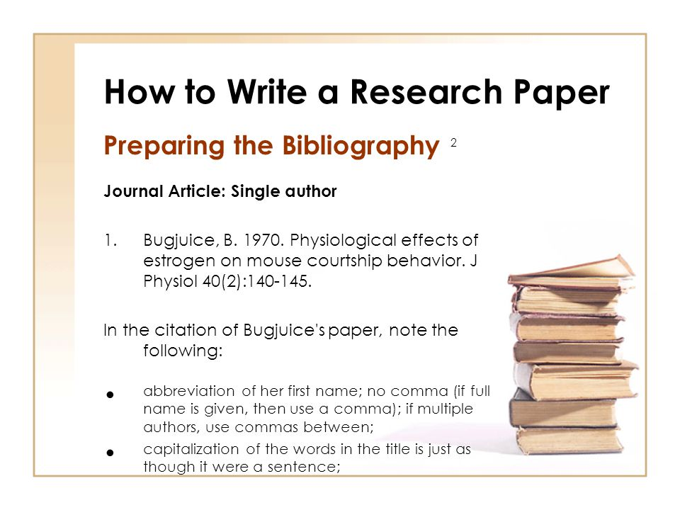 Bibliography In Research Paper