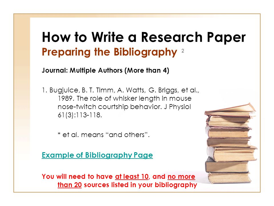 term paper with bibliography Mla (modern language association) style is most commonly used to write papers and cite sources within the liberal arts and humanities this resource, updated to reflect the mla handbook (8th ed), offers examples for the general format of mla research papers, in-text citations, endnotes/footnotes, and the works cited page.