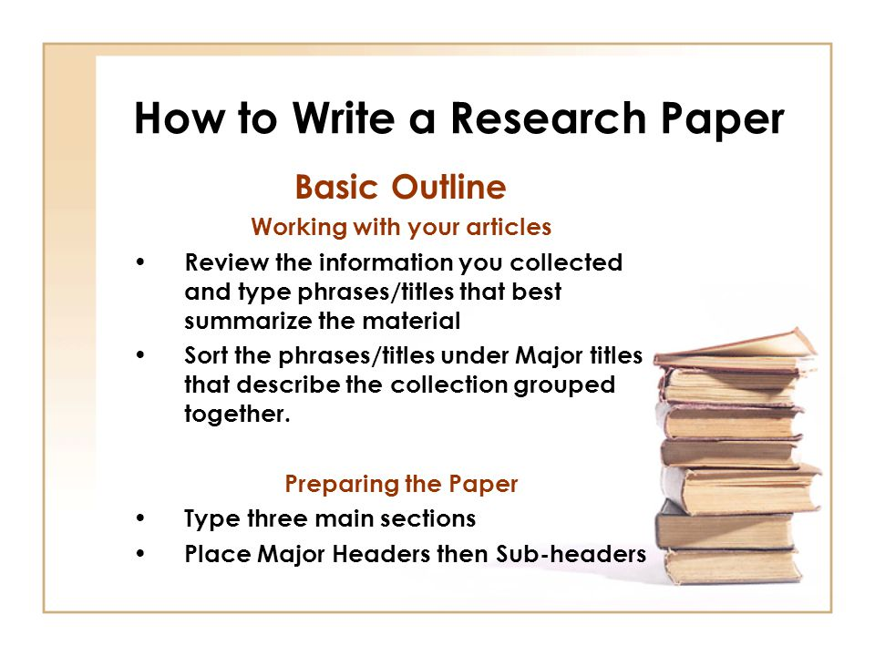 How to type a research paper